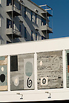 The Piper Building. Fulham London UK. The John Piper Murals.