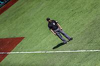 Ampayer. Yahir Fernandez  <br /> .<br /> Acciones, durante el partido de beisbol entre<br /> Criollos de Caguas de Puerto Rico contra las &Aacute;guilas Cibae&ntilde;as de Republica Dominicana, durante la Serie del Caribe realizada en estadio Panamericano en Guadalajara, M&eacute;xico,  s&aacute;bado 4 feb 2018. <br /> (Foto  / Luis Gutierrez)