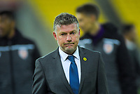 Phoenix head coach Ufuk Talay after the A-League football match between Wellington Phoenix and Perth Glory at Westpac Stadium in Wellington, New Zealand on Sunday, 27 October 2019. Photo: Dave Lintott / lintottphoto.co.nz