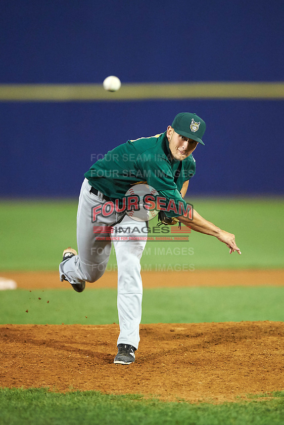 Lynchburg Hillcats relief pitcher Cameron Hill (15) during a game against the Wilmington Blue Rocks on June 3, 2016 at Judy Johnson Field at Daniel S. Frawley Stadium in Wilmington, Delaware.  Lynchburg defeated Wilmington 16-11 in ten innings.  (Mike Janes/Four Seam Images)