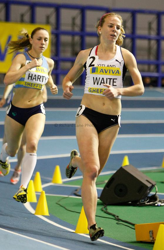 Photo: Richard Lane/Richard Lane Photography. Aviva World Trials & UK Championships. 13/02/2010. Lenny Waite in the women's 3000m.