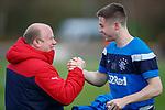 27.04.2018 Rangers training: Jordan Rossiter and Steve Harvey