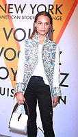 NEW YORK, NY October 26, 2017 Alicia Vikander attend  Volez Voguez Voyagez x Louis Vuitton - Exhibition Preview at the Former America Stock Exchanging Build in New York October 26,  2017. Credit:RW/MediaPunch /NortePhoto.com