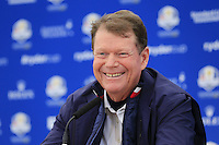 USA Captain Tom Watson press conference during Tuesday's Practice Day ahead of the 2014 Ryder Cup at Gleneagles. The 40th Ryder Cup is being played over the PGA Centenary Course at The Gleneagles Hotel, Perthshire from 26th to 28th September 2014.: Picture Eoin Clarke, www.golffile.ie: 23-Sep-14