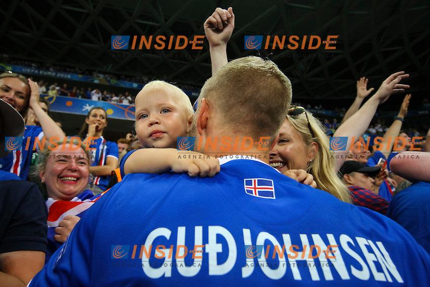 Eidur Gudjohnsen of Iceland celebrates with his family  Esultanza <br /> Nice 27-06-2016 Stade de Nice <br /> Football Euro2016 England - Iceland / Inghilterra - Islanda Round of 16 / Ottavi di finale Foto Daniel Chesterton / Phc / Insidefoto