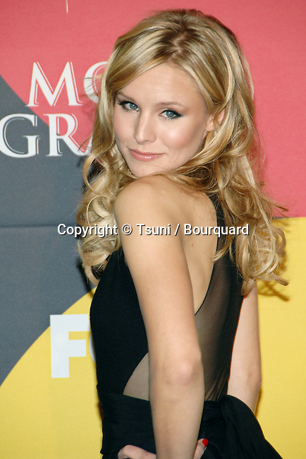 Kristen Bell backstage at the Billboard Music Awards at the MGM Grand In Las Vegas. December 04, 2006.<br /> <br /> headshot<br /> eye contact<br /> over the shoulder