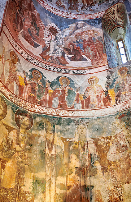 Pictures & images of Nikortsminda ( Nicortsminda ) St Nicholas Georgian Orthodox Cathedral rich interior frescoes, 16th century, Nikortsminda, Racha region of Georgia (country). A UNESCO World Heritage Tentative Site.
