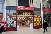 Closing down Sales Passion for perfume Castle Quay Shopping centre Banbury Oxfordshire UK..©shoutpictures.com..john@shoutpictures.com