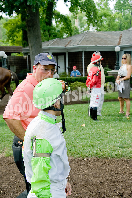 Pitch N Roll before The Par Four Stakes at Delaware Park on 7/12/12