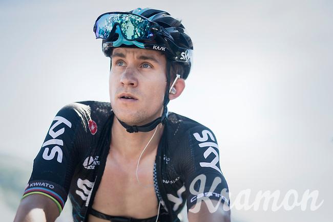 Michal Kwiatkowski (POL/SKY) post-race<br /> <br /> 69th Crit&eacute;rium du Dauphin&eacute; 2017<br /> Stage 8: Albertville &gt; Plateau de Solaison (115km)