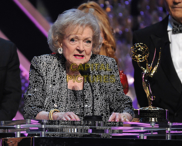 BURBANK, CA - APRIL 26: Betty White accepts the Life Achievement Award on the 42nd Annual Daytime Emmy Awards at the Warner Bros. Studio Lot on April 26, 2015 in Burbank, California. <br /> CAP/MPI/PGFM<br /> &copy;PGFM/MPI/Capital Pictures