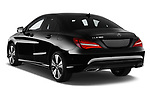Car pictures of rear three quarter view of a 2018 Mercedes Benz CLA Coupe Business Solution 4 Door Sedan angular rear