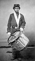 Taylor - Drummer Boy, 78th Regt. U.S.C.I. U.S. Colored Infantry. (War Dept.)<br /> Exact Date Shot Unknown<br /> NARA FILE #:  165-JT-302<br /> WAR & CONFLICT BOOK #:  139