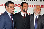 XIV Sopar Solidari de Nadal.<br /> Esport Solidari Internacional-ESI.<br /> Josep M. Bartomeu, Juliano Belleti &amp; Josep Maldonado
