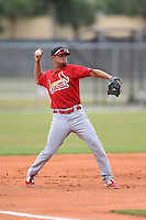 St. Louis Cardinals third baseman Breyvic Valera (8) during a minor league spring training intrasquad game on March 28, 2014 at the Roger Dean Stadium Complex in Jupiter, Florida.  (Mike Janes/Four Seam Images)