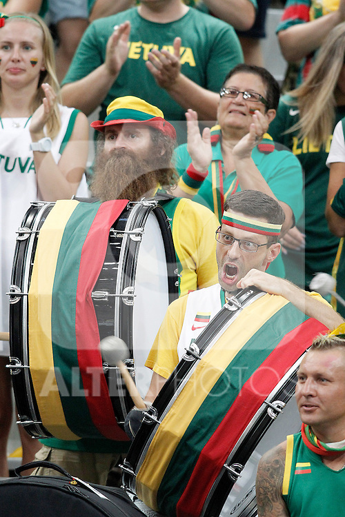 Lithuania's supporters during 2014 FIBA Basketball World Cup Quarter-Finals match.September 9,2014.(ALTERPHOTOS/Acero)