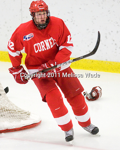 Sean Collins (Cornell - 12) - The visiting Cornell University Big Red defeated the Harvard University Crimson 2-1 on Saturday, January 29, 2011, at Bright Hockey Center in Cambridge, Massachusetts.