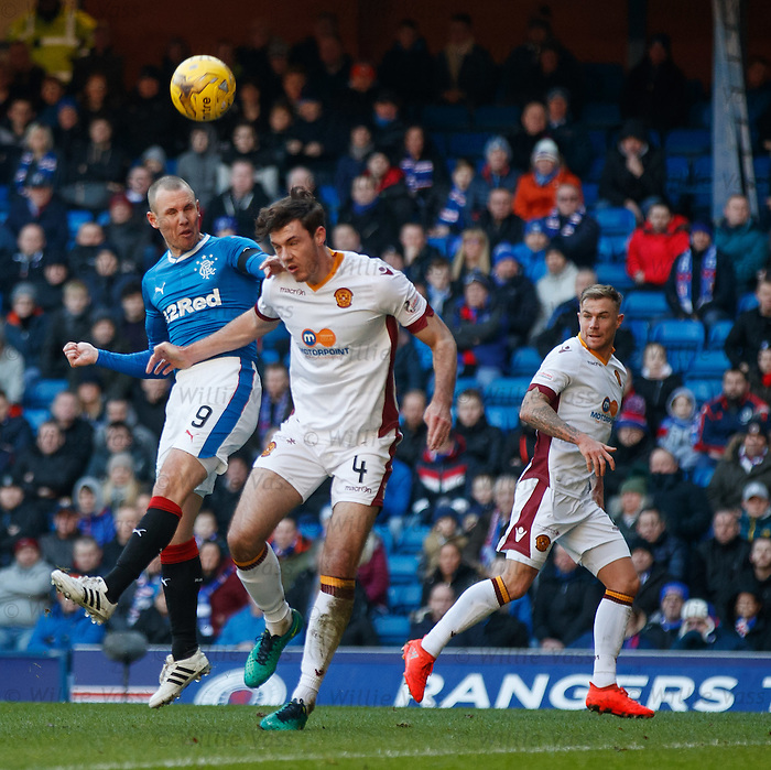 Kenny Miller goes close with a header