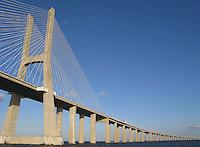 Vasco da Gama bridger at Tejo River in Lisbon