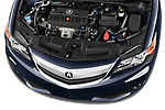 High angle engine detail of a  <br /> 2013 Acura ILX Tech