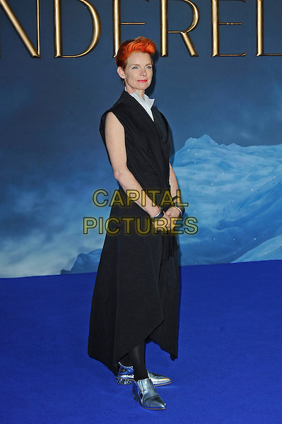LONDON, ENGLAND - MARCH 19: Sandy Powell attending the 'Cinderella' UK Premiere at Odeon Cinema, Leicester Square on March 19, 2015 in London, England<br /> CAP/MAR<br /> &copy; Martin Harris/Capital Pictures