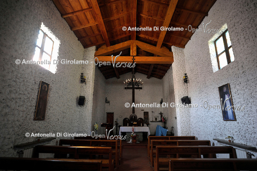 Isola di Gorgona. La chiesa del paese. .The village church.Gorgona island.