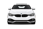 Car photography straight front view of a 2019 BMW 4 Series 430i Gran Coupe 5 Door Hatchback