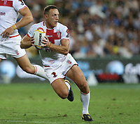 England's James Roby attacks during the Rugby League World Cup final between Australia and England, Suncorp Stadium, Brisbane, Australia, 2 December 2017. Copyright Image: Tertius Pickard / www.photosport.nz MANDATORY CREDIT/BYLINE : SWpix.com/PhotosportNZ