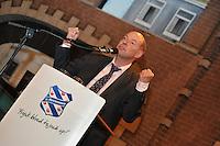 VOETBAL: ABE LENSTRA STADION: HEERENVEEN: 14-01-2014, Nieuwjaarsreceptie, Voorzitter damesvoetbal Wim Anker, ©foto Martin de Jong