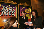 Bold and the Beautiful Constantine Maroulis stars in Rock of Ages on Broadway & fans at the musical (which opens Tuesday) on April 4, 2009 at the Brooks Atkinson Theatre, NYC. (Photo by Sue Coflin/Max Photos)