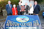 Michael Kerins received the 'Hall of Fame Plaque' from chairman of the Kingdom County fair organisers at the launch of this years fair in the Meadowlands hotel Tralee on Wednesday, pictured are Bridie O'Connell(president),Michael Kerins,Jim Kelly(treasurer)Robert Groves(chairman)Michael Brady(PRO)and Mary Barry(Secretary)