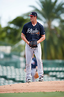 Atlanta Braves pitcher Kyle Muller (60) gets ready to deliver a pitch during an Instructional League game against the Baltimore Orioles on September 25, 2017 at Ed Smith Stadium in Sarasota, Florida.  (Mike Janes/Four Seam Images)