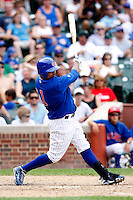 August 9, 2009:  Luis Rivas of the Iowa Cubs during a game at Wrigley Field in Chicago, IL.  Iowa is the Pacific Coast League Triple-A affiliate of the Chicago Cubs.  Photo By Mike Janes/Four Seam Images