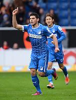 FUSSBALL   1. BUNDESLIGA   SAISON 2012/2013   20. SPIELTAG    TSG 1899 Hoffenheim  - SC Freiburg      02.02.2013 JUBEL Kevin Volland (TSG 1899 Hoffenheim)