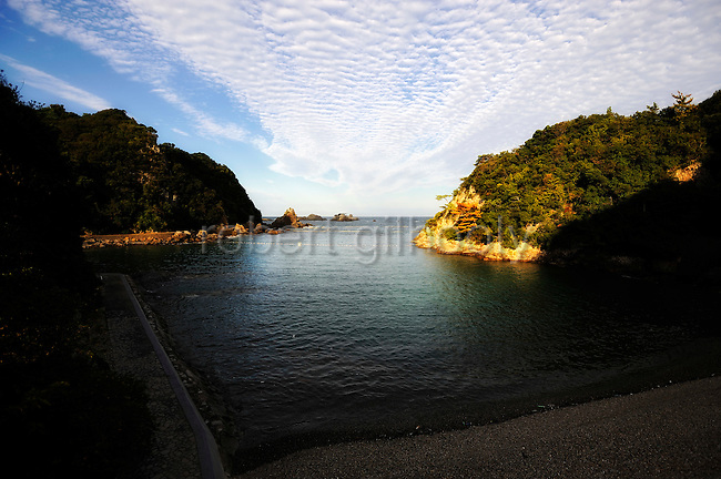 "The cove that is the at the center of the documentary film ""The Cove,"" which is to be released in the U.K. next month, and the scene for the dolphin slaughtering in Taiji, Japan on 10 September 2009. .Photographer: Robert Gilhooly"
