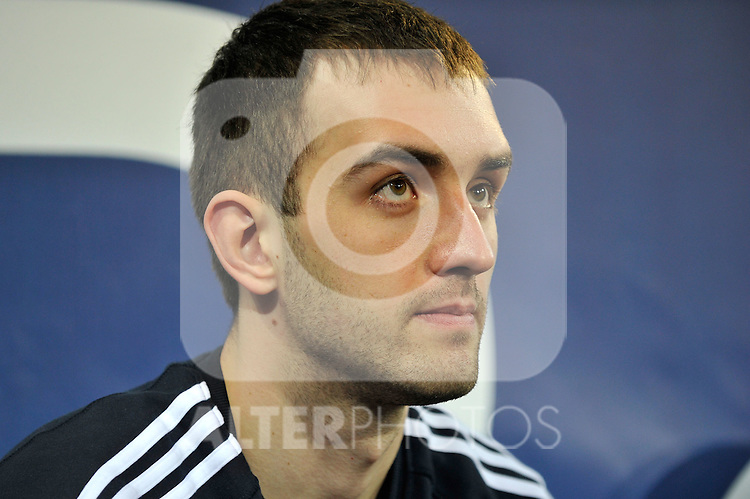 MADRID, Spain (22/01/11). Liga ACB de baloncesto, jornada 18, Real Madrid vs Asefa Estudiantes. Caja Magica...Mirza Begic...©Raul Perez .
