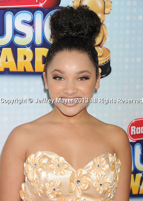 LOS ANGELES, CA- APRIL 27: Actress Jaylen Barron arrives at the 2013 Radio Disney Music Awards at Nokia Theatre L.A. Live on April 27, 2013 in Los Angeles, California.