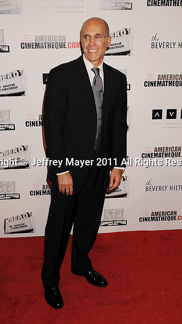 BEVERLY HILLS, CA - OCTOBER 14: Jeffrey Katzenberg  arrives at the The 25th American Cinematheque Award Honoring Robert Downey Jr. at The Beverly Hilton hotel on October 14, 2011 in Beverly Hills, California.