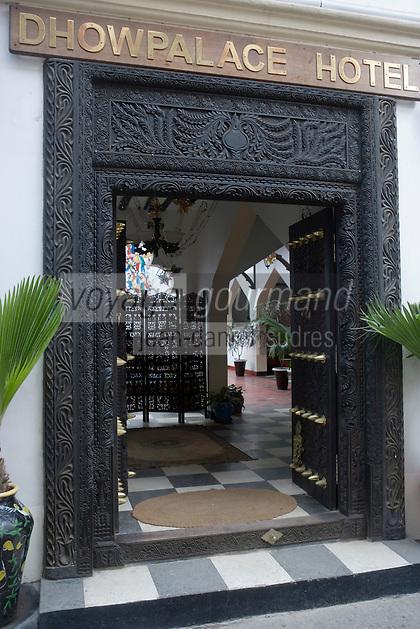 Afrique/Afrique de l'Est/Tanzanie/Zanzibar/Ile Unguja/Stone Town: Dhow Palace Hotel l'entrée