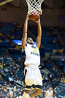 Morgantown, WV - NOV 18, 2017: West Virginia Mountaineers guard James Bolden (3) goes up strong to the basket during game between West Virginia and Morgan State at WVU Coliseum Morgantown, West Virginia. (Photo by Phil Peters/Media Images International)
