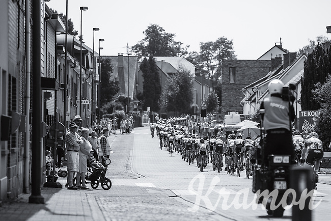 peloton through the streets of Tongeren.  during Lap n&deg;1 of 3<br /> <br /> <br /> Baloise Belgium Tour 2017 (2.HC)<br /> Stage 5: Tienen - Tongeren 169.6km