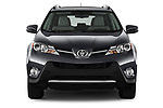 Car photography straight front view of a 2013 Toyota rav4 limited Select Doors Door SUV
