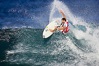 The Billabong Pipeline Masters was won today Monday 17 December 2007 by BEDE DURBIDGE (AUS) who also won the VANS TRIPLE CROWN OF SURFING. DEAN MORRISON (AUS) finished in 2nd, PANCHO SULLIVAN (HAW) was 3rd with JOLA PARKINSON (AUS) in 4th place. North Shore, Oahu, Hawaii.  Photo: Joli
