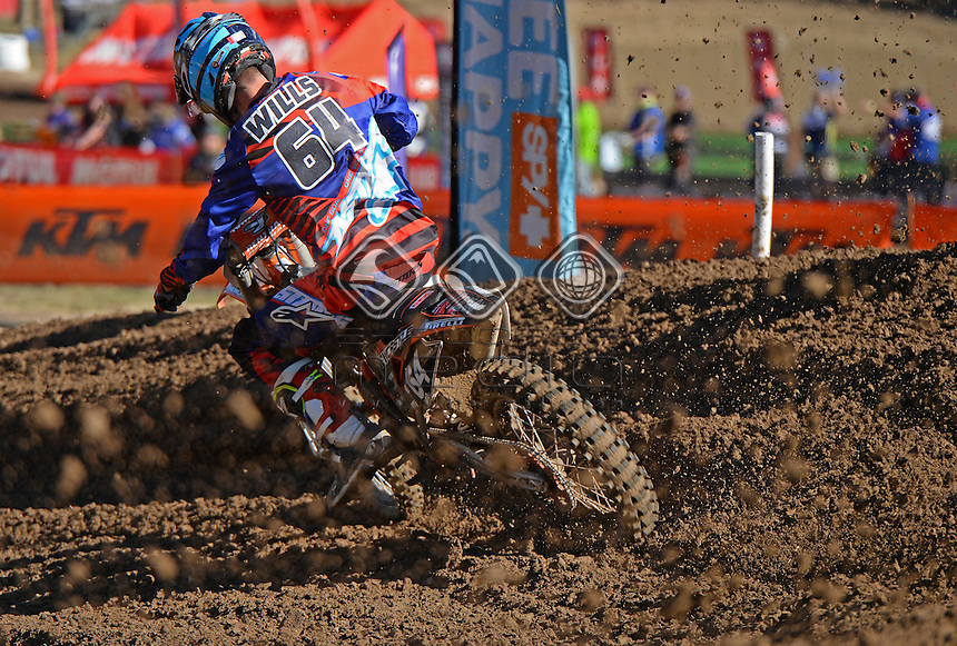 Dylan Wills / KTM<br /> MX Nationals / Round 6 / MX2<br /> Australian Motocross Championships<br /> Raymond Terrace NSW<br /> Sunday 5 July 2015<br /> &copy; Sport the library / Jeff Crow