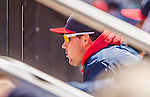 21 April 2013: Washington Nationals third baseman Ryan Zimmerman watches action from the dugout during a game against the New York Mets at Citi Field in Flushing, NY. Zimmerman was placed on the 154-day disabled list to recover from a hamstring injury. The Mets shut out the visiting Nationals 2-0, taking the rubber match of their 3-game weekend series. Mandatory Credit: Ed Wolfstein Photo *** RAW (NEF) Image File Available ***
