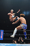 Kazuchika Okada vs Kota Ibushi during the IWGP Heavyweight Championship Match New Japan Pro-Wrestling Wrestle Kingdom 14 at Tokyo Dome on January 4, 2020 in Tokyo, Japan. (Photo by New Japan Pro-Wrestling/AFLO)