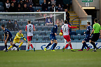 30th November 2019; Dens Park, Dundee, Scotland; Scottish Championship Football, Dundee Football Club versus Queen of the South; Stephen Dobbie of Queen of the South scores for 1-0 in the 28th minute - Editorial Use
