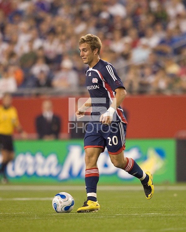 Revolution's (20) Taylor Twellman. New England Revolution defeated the New York Red Bulls, 2-1,  at Gillette Stadium, Foxborough, MA on August 25, 2007.