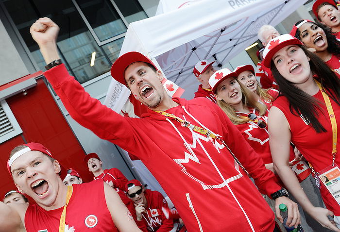 Toronto, ON - Aug 6 2015 - Team Canada welcome ceremony in the Athlete Village  (Photo: Matthew Murnaghan/Canadian Paralympic Committee)