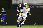 19 September 2014: North Carolina's Andy Craven (10) and Duke's Markus Fiortoft (NOR) (21). The Duke University Blue Devils hosted the University of North Carolina Tar Heels at Koskinen Stadium in Durham, North Carolina in a 2014 NCAA Division I Men's Soccer match. Duke won the game 2-1.